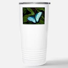 Peleides Blue Morpho Bu Stainless Steel Travel Mug