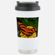 Banded Orange Butterfly Travel Mug