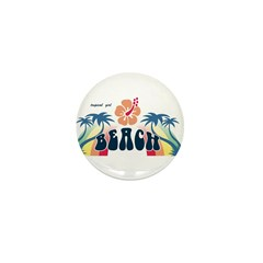 beach Mini Button (10 pack)