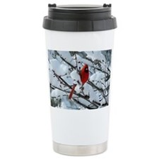 Snow Cardinal Travel Mug