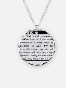 Evil Genius Advert Necklace