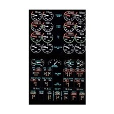 Aeroplane control panel displa Decal