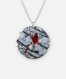 Snow Cardinal Necklace