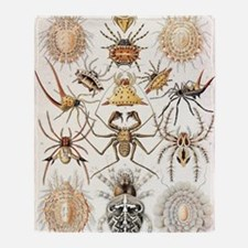 Arachnid organisms, artwork Throw Blanket