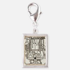15th century surgical equipm Silver Portrait Charm