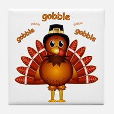 Gobble Gobble Turkey Tile Coaster