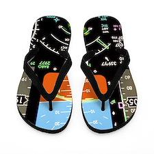 Aeroplane control panel display Flip Flops