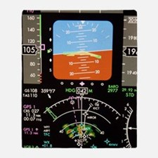 Aeroplane control panel display Throw Blanket