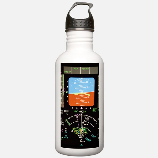Aeroplane control pane Water Bottle