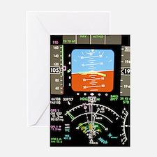 Aeroplane control panel display Greeting Card