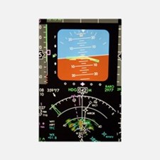 Aeroplane control panel display Rectangle Magnet
