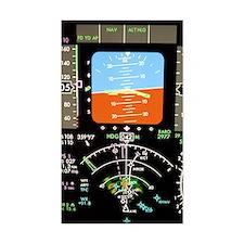 Aeroplane control panel displa Decal