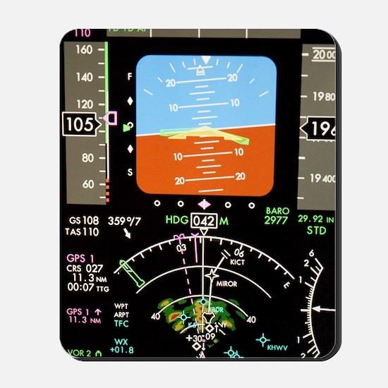 Aeroplane control panel display Mousepad