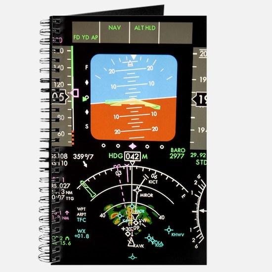 Aeroplane control panel display Journal