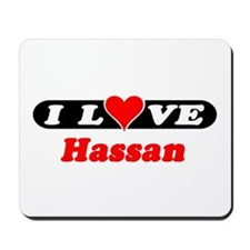 I Love Hassan Mousepad