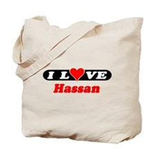 I Love Hassan Tote Bag