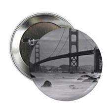 "Golden Gate Bridge as seen from Baker 2.25"" Button"