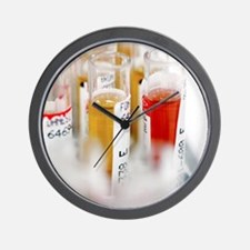 Blood samples Wall Clock