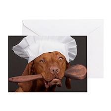 vizsla chef Greeting Card