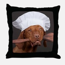 vizsla chef Throw Pillow