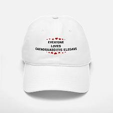 Loves: Caenorhabditis Elegans Baseball Baseball Cap