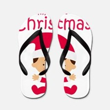 Boys My First Christmas Flip Flops