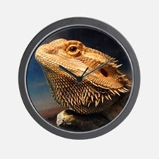 .young bearded dragon. Wall Clock