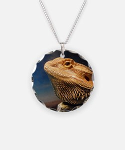 .young bearded dragon. Necklace