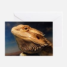 .young bearded dragon. Greeting Card