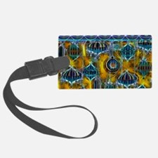 Blue Ornaments with a Yellow Glo Luggage Tag