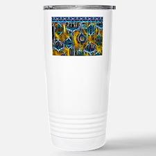 Blue Ornaments with a Y Travel Mug