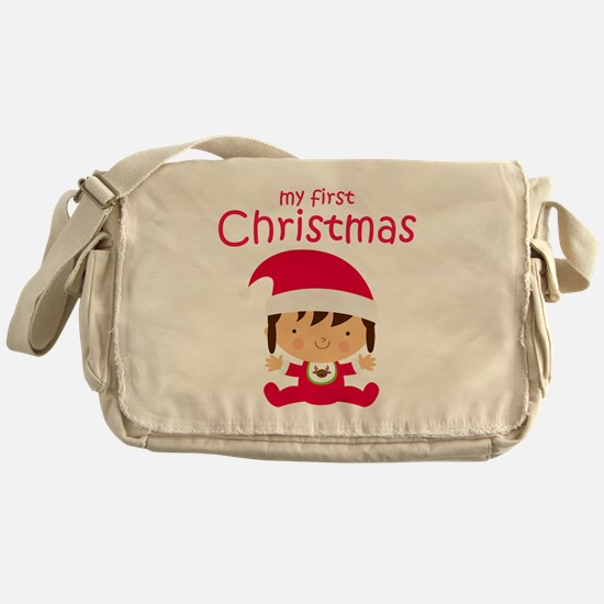 Girls My First Christmas Messenger Bag