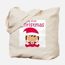 Girls My First Christmas Tote Bag