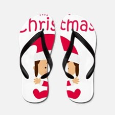 Girls My First Christmas Flip Flops