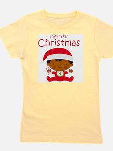 Black Boy 1st Christmas Girl's Tee