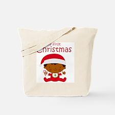 Black Boy 1st Christmas Tote Bag