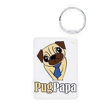 Pug Papa Keychains