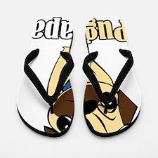 Pug Papa Flip Flops
