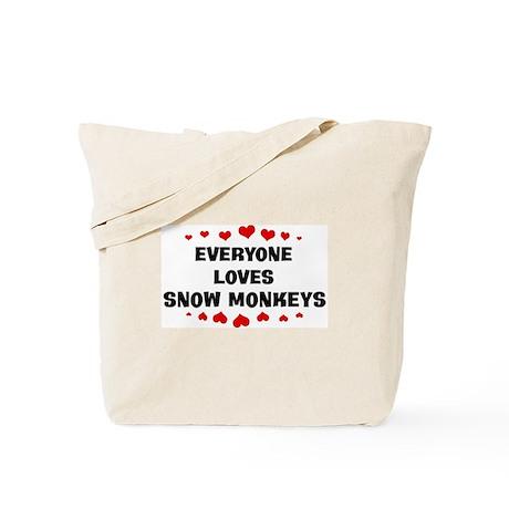Loves: Snow Monkeys Tote Bag
