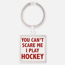 scarePlayHockey1D Square Keychain