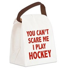 scarePlayHockey1D Canvas Lunch Bag