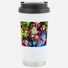 Retro Colorful Flowers Travel Mug