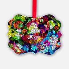 Retro Colorful Flowers Ornament