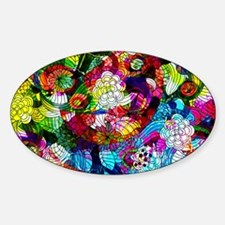 Retro Colorful Flowers Decal