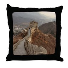 Great Wall of China in Beijing, china Throw Pillow