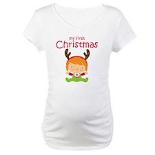 Reindeer Girl 1st Christmas Shirt