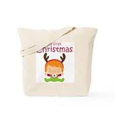 Reindeer Girl 1st Christmas Tote Bag