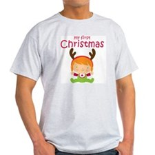 Reindeer Girl 1st Christmas T-Shirt