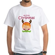 Reindeer Girl 1st Christmas Shirt
