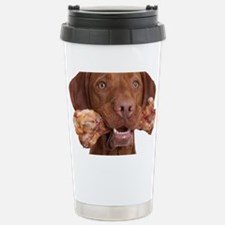 dog with bone Thermos Mug